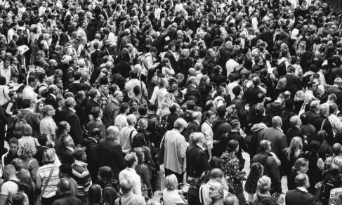 crowd Photo by Rob Curran on Unsplash